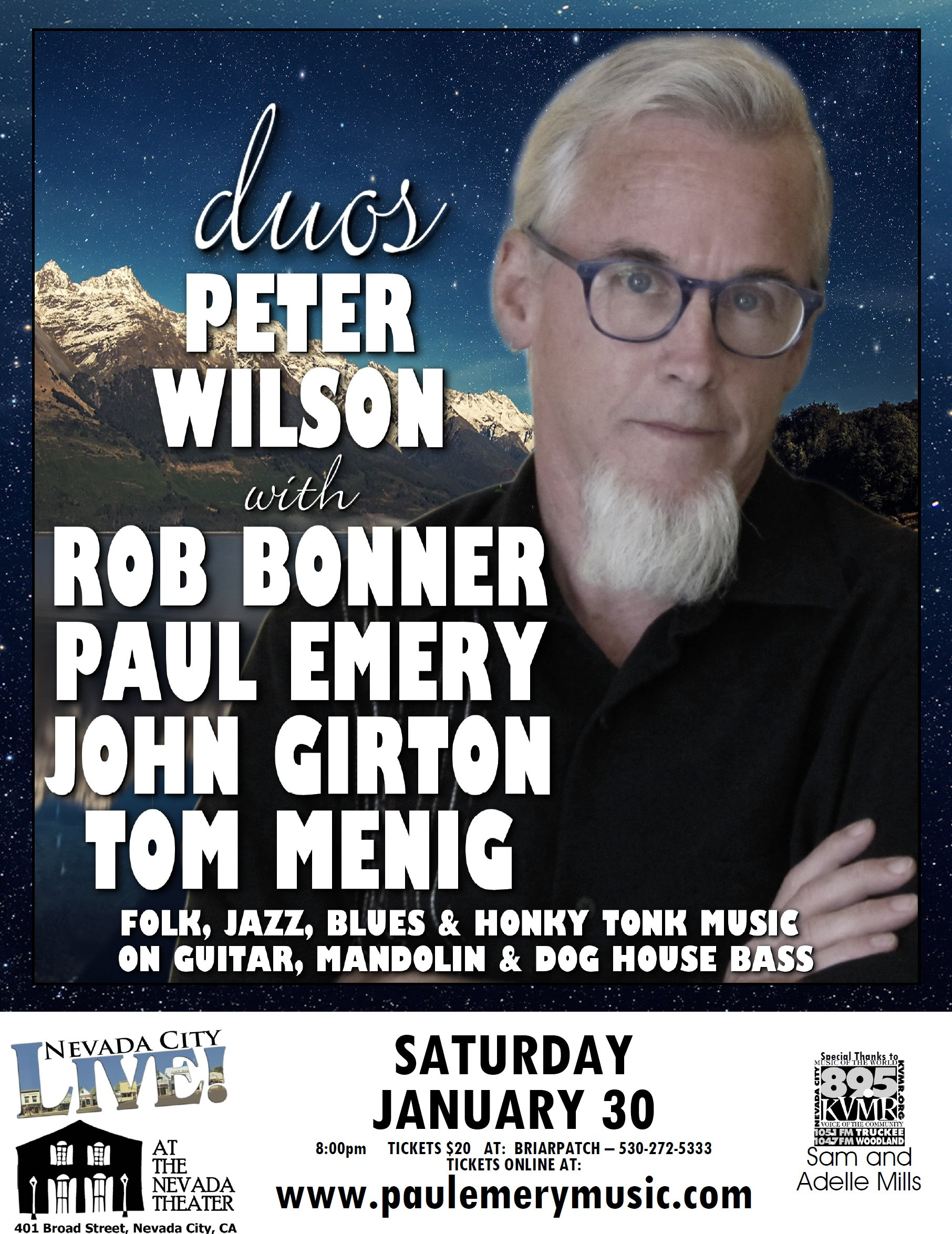 2016-01 - Nevada City Live - Peter Wilson Duos 8.5X11